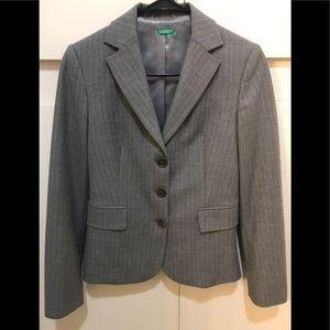 Vintage Gray Benetton Pinstripe Blazer size 38